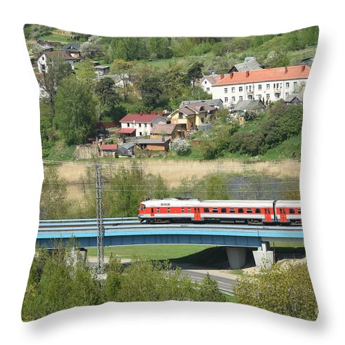 Engine Throw Pillow featuring the photograph Roads by Oleg Konin
