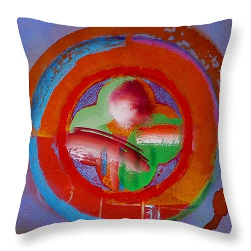 Love Throw Pillow featuring the painting Green Planet by Charles Stuart
