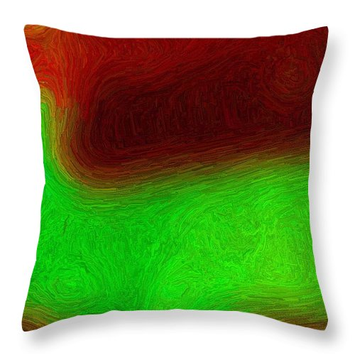River Throw Pillow featuring the digital art Green River by April Patterson