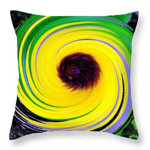Abstract Throw Pillow featuring the digital art Green Rush by Ian MacDonald
