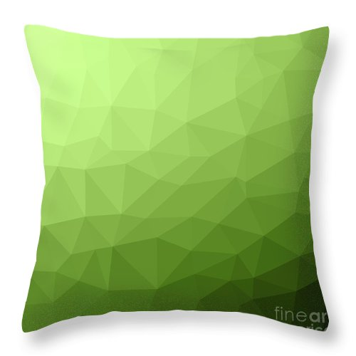 Greenery Throw Pillow featuring the digital art Greenery Ombre Gradient Geometric Mesh by PL Design