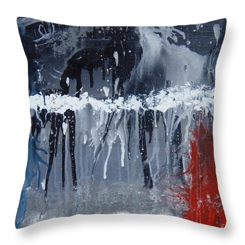 Abstract Throw Pillow featuring the painting Greenhouse Effect On The Arctic Circle by Max Bowermeister