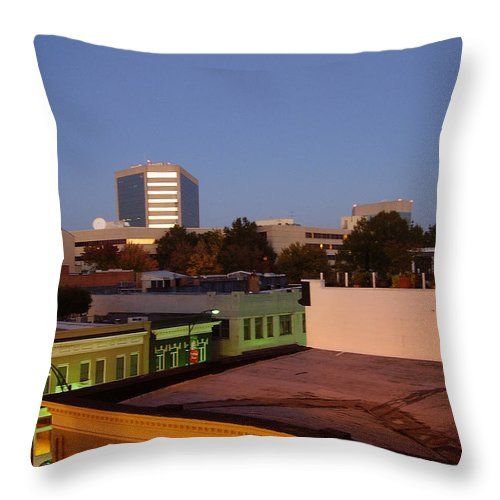 Greenville Throw Pillow featuring the photograph Greenville by Flavia Westerwelle