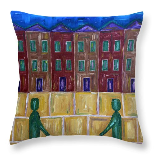Animals Throw Pillow featuring the painting Greetings by Patrick J Murphy