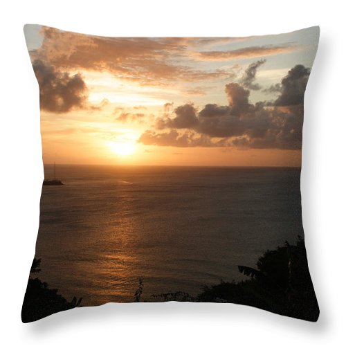 Grenada Throw Pillow featuring the photograph Grenadian Sunset I by Jean Macaluso