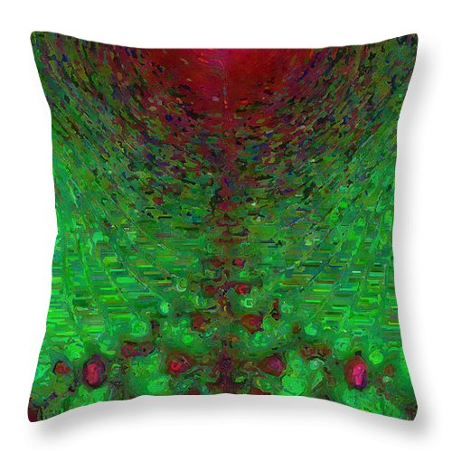 Fractal Throw Pillow featuring the digital art Grenadine by Charmaine Zoe