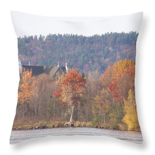 Church Throw Pillow featuring the photograph Grenville Quebec - Photograph by Jackie Mueller-Jones