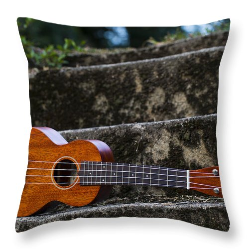 Music Throw Pillow featuring the photograph Gretsch Ukulele by Keith May