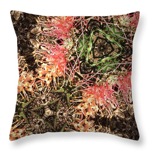 Photographic Throw Pillow featuring the photograph Grevillia by Sandy Aldcroft
