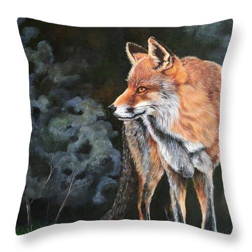 Grey Fox Night Throw Pillow For Sale By JoAnn Morgan Smith Beauteous Joann Fabric Pillow Inserts
