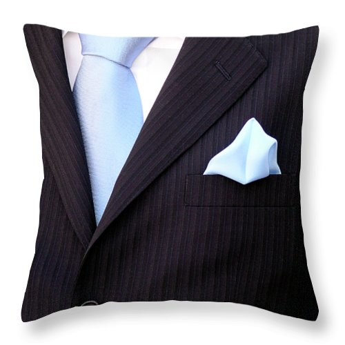 Arms Throw Pillow featuring the photograph Groom's Torso by Carlos Caetano