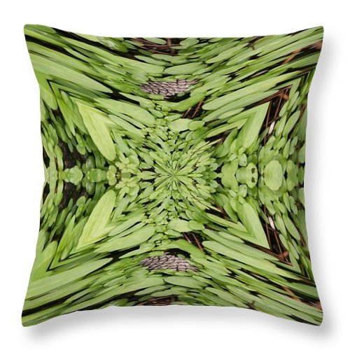 Nature Throw Pillow featuring the digital art Ground Cover Vortex by Tim Allen