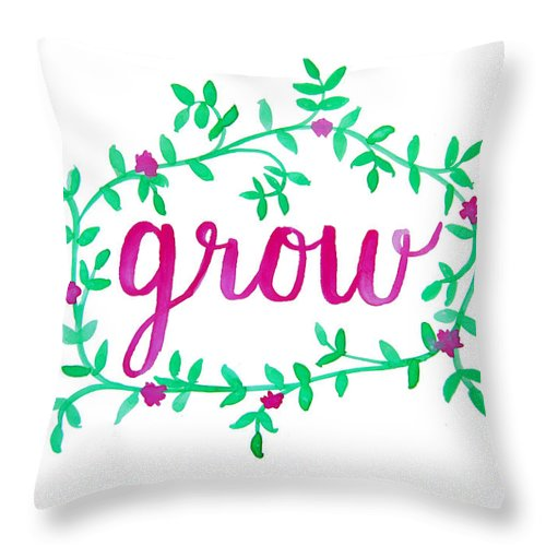 Watercolor Throw Pillow featuring the painting Grow by Michelle Eshleman