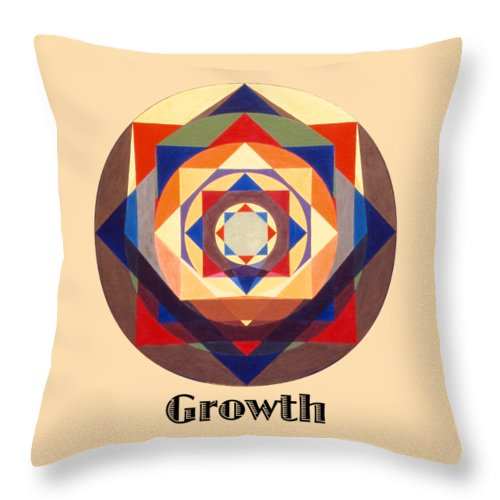Painting Throw Pillow featuring the painting Growth text by Michael Bellon