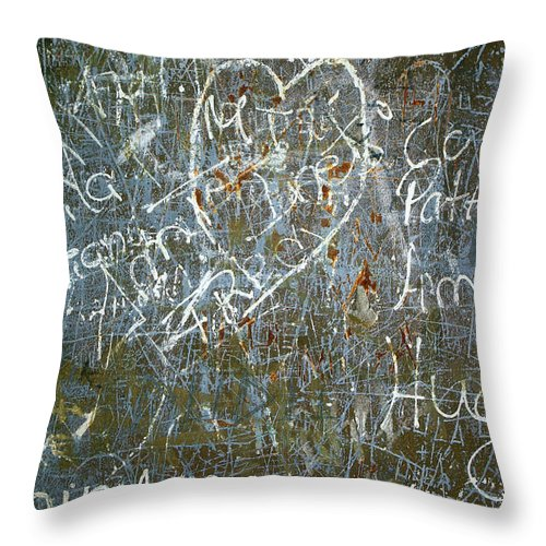 Abstract Throw Pillow featuring the photograph Grunge Background IIi by Carlos Caetano
