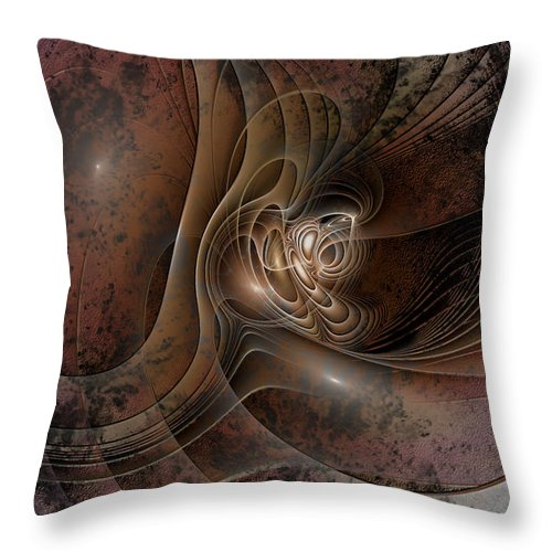 Abstract Throw Pillow featuring the digital art Grunge by Casey Kotas