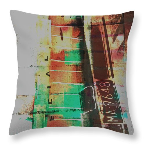 Abstract Throw Pillow featuring the painting Grunge by David Studwell