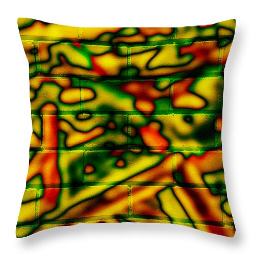 Digital Throw Pillow featuring the photograph Grunge Graffiti by Phill Petrovic