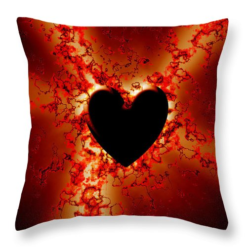 Grunge Throw Pillow featuring the digital art Grunge Heart by Phill Petrovic