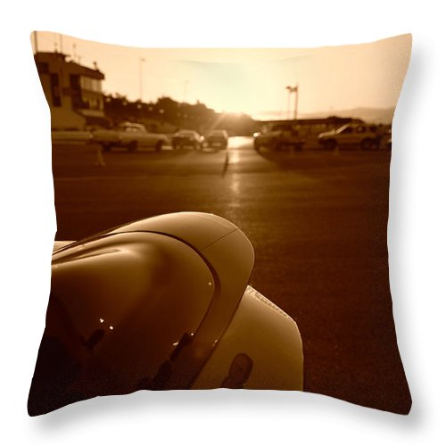 Sunsets Throw Pillow featuring the photograph Gsxr Tail by Noah Cole