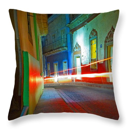 Shadow Throw Pillow featuring the photograph Guanajuato Night by Skip Hunt