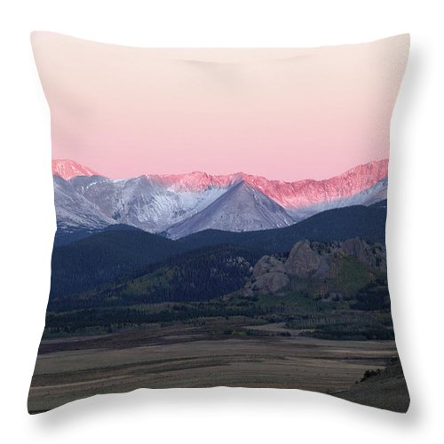 Rocky Mountains Throw Pillow featuring the photograph Guanella Sunrise by Marie Leslie