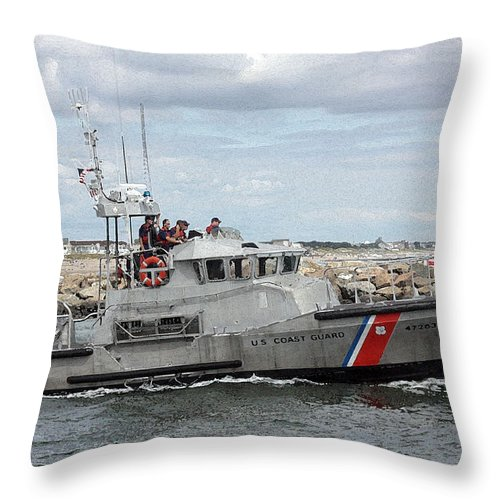 Coast Guard Throw Pillow featuring the photograph Guarding The Coast by Mary Haber