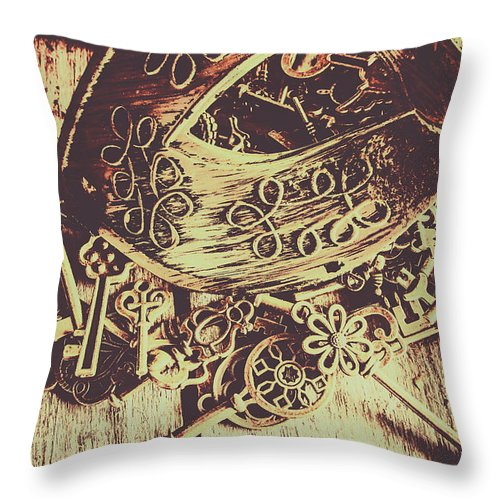 Mask Throw Pillow featuring the photograph Guarding The Secrets Of Society by Jorgo Photography - Wall Art Gallery