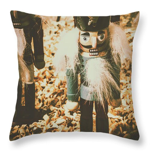 Nutcrackers Throw Pillow featuring the photograph Guards Of Nutcracker Way by Jorgo Photography - Wall Art Gallery