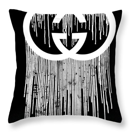Gucci Dripping Black Throw Pillow