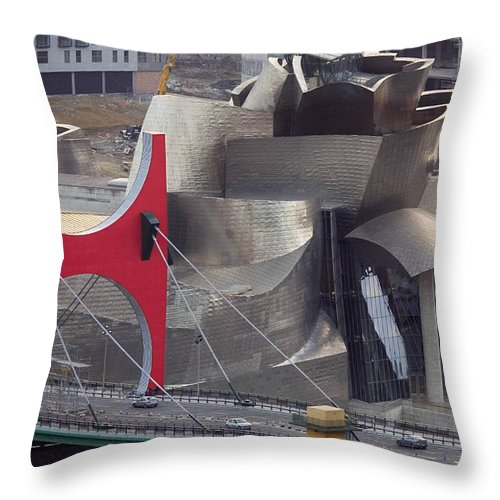 Spain Throw Pillow featuring the photograph Guggenheim Bilbao Museum IIi by Rafa Rivas
