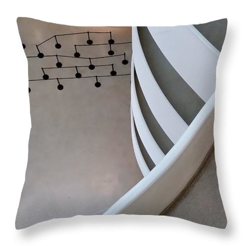 Guggenheim Throw Pillow featuring the photograph Guggenheim Levels by Rob Hans