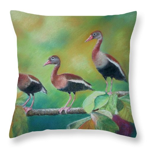 Wildlife Throw Pillow featuring the painting Guichichi En Guarumo by Ceci Watson
