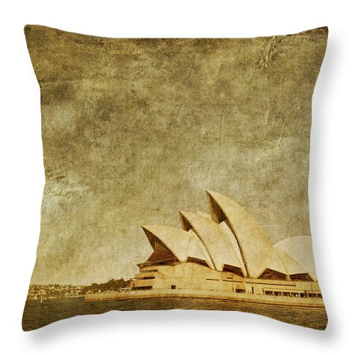 Sydney Throw Pillow featuring the photograph Guided Tour by Andrew Paranavitana
