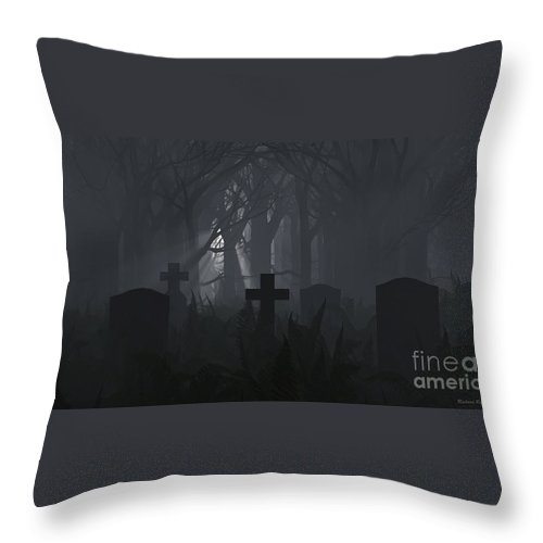 Death Throw Pillow featuring the digital art Guiding Light by Richard Rizzo