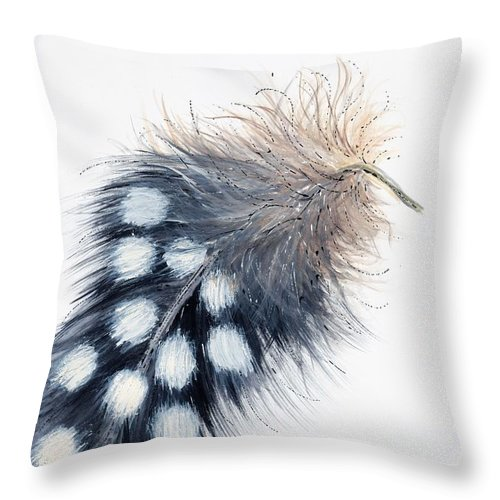 Guinea Fowl Feather Throw Pillow For Sale By Niki P Bam