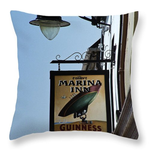 Irish Throw Pillow featuring the photograph Guinness For Strength Dingle Ireland by Teresa Mucha