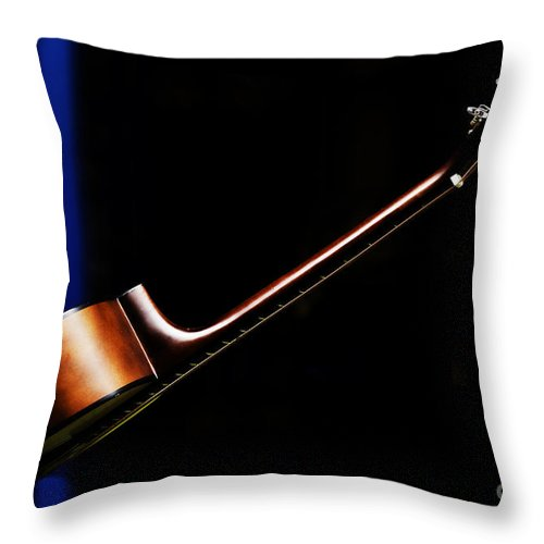 Guitar Throw Pillow featuring the photograph Guitar by Avalon Fine Art Photography