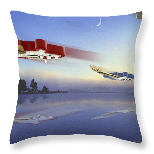 Rock And Roll Throw Pillow featuring the photograph Guitar Wars by Mike McGlothlen