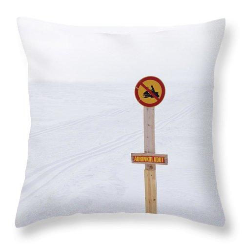 Lehtokukka Throw Pillow featuring the photograph Gulf Of Bothnia Variations Nr 11 by Jouko Lehto