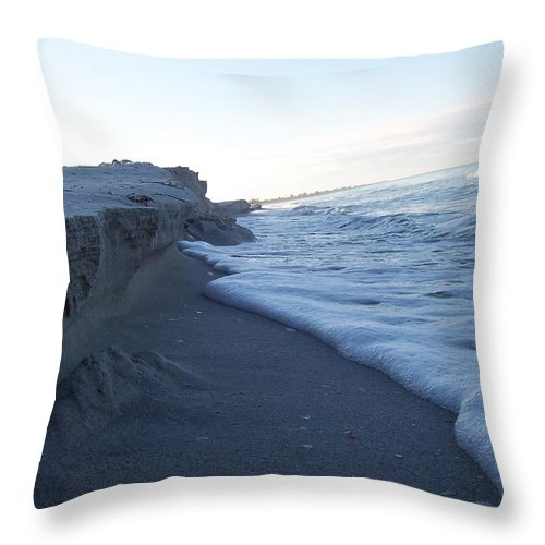 Landscapes Throw Pillow featuring the photograph Gulf Shore 1 by Gigi Croom