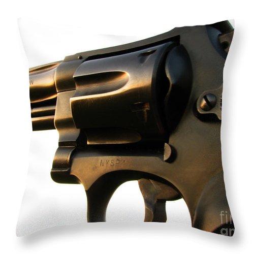 Gun Throw Pillow featuring the photograph Gun Series by Amanda Barcon