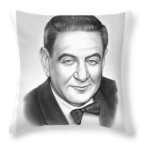 Guy Lombardo Throw Pillow featuring the drawing Guy Lombardo by Greg Joens