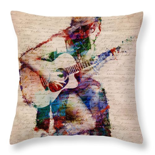 Gypsy Throw Pillow featuring the digital art Gypsy Serenade by Nikki Smith