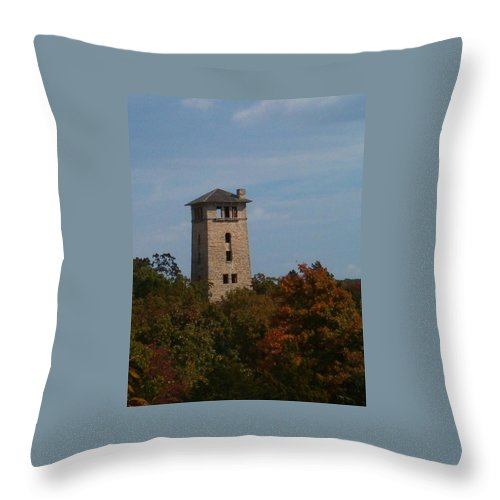Water Tower Throw Pillow featuring the photograph Ha Ha Tonka Water Tower by Sara Raber