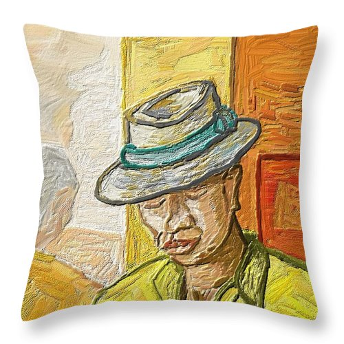 Figurative Throw Pillow featuring the painting Habana by Xavier Ferrer