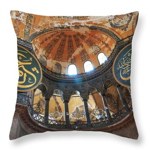 Asia Throw Pillow featuring the photograph Hagia Sophia Dome by Emily M Wilson