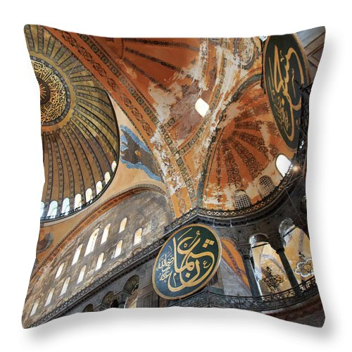 Asia Throw Pillow featuring the photograph Hagia Sophia Dome II by Emily M Wilson