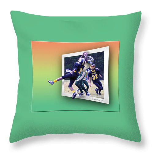 2d Throw Pillow featuring the photograph Hail Mary by Brian Wallace