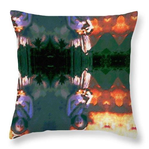 Rainbow Colors Digital Throw Pillow featuring the photograph Haili Moe by Kenneth Grzesik